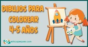 dibujos para colorear, dibujos 4-5 años, colorear 4-5 años