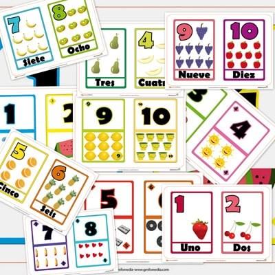 numeros, cartas numericas, aprender numeros, aprender a contar, contar, recursos para el aula, recursos didacticos