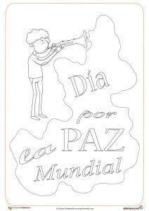 5. Ficha del día de la paz- dia de la paz para dibujar y colorear por los niños