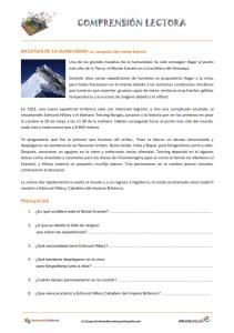 Fichas de compresión lectora para primaria y para niños: La historia de la conquista del Everest.