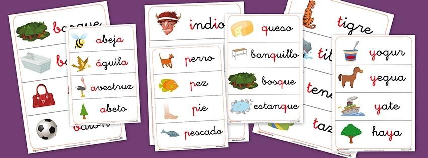 Vocabulario, letras, abecedario, alfabeto