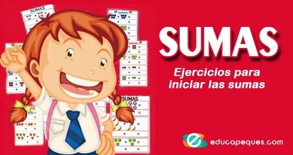 sumas, fichas de sumas, aprender a sumar