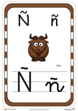 abecedario en color ñ