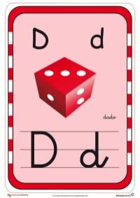 abecedario en color d