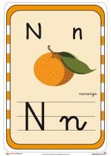 abecedario en color n