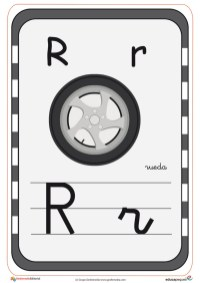 abecedario en color r