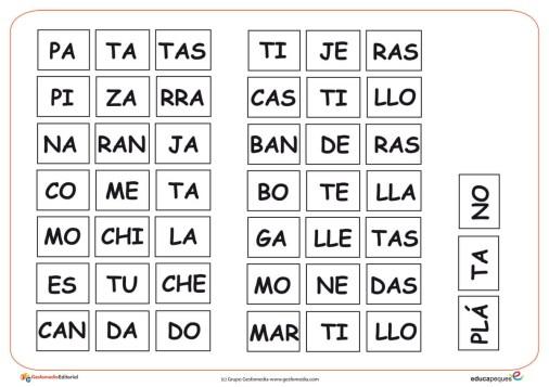 silabas completar