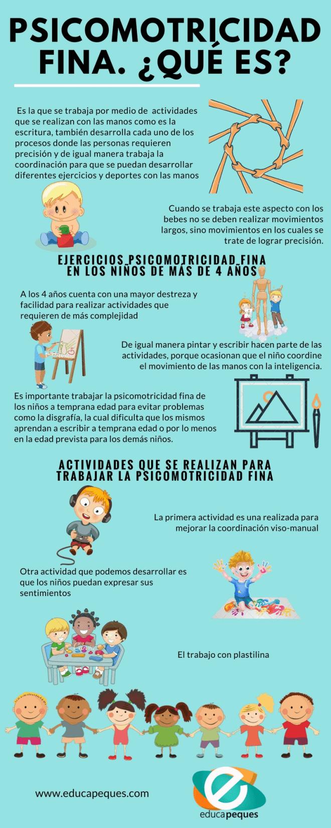 infografía psicomotricidad fina
