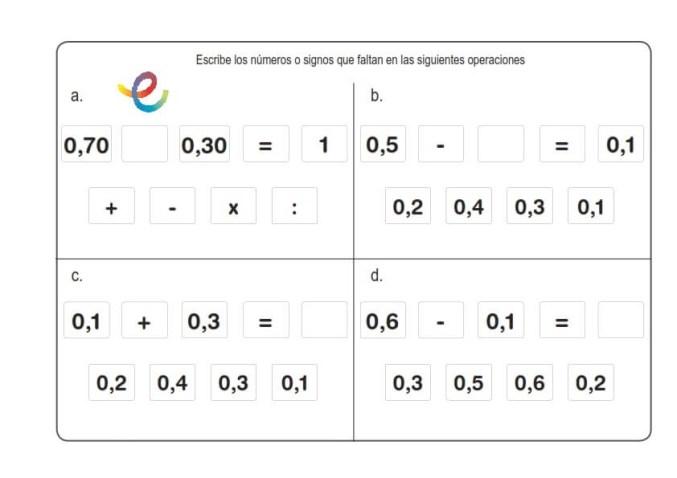 ejercicios de matemáticas 20