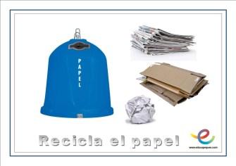 recicla papel