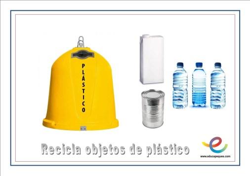 recicla plastico