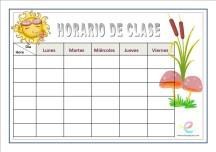 Horarios de clase 09