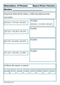 Matemáticas cuarto de primaria 05