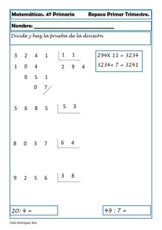 Matemáticas cuarto de primaria 12