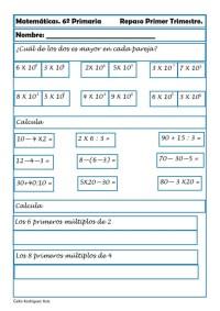 ejercicios matematicas sexto primaria 10