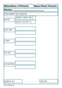 ejercicios matematicas sexto primaria 11