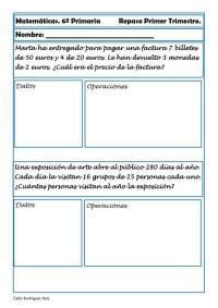 ejercicios matematicas sexto primaria 13