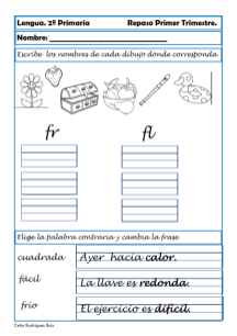ejercicios lengua segundo primaria 06