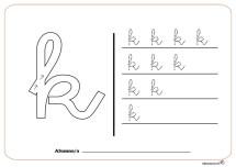 grafo consonantes k