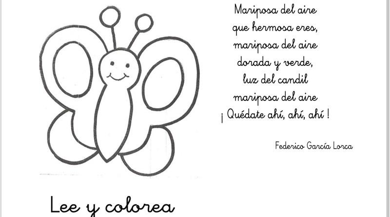 Maestra Leyendo Para Colorear: Poemas De Primavera: Lee Y Colorea