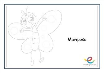 dibujos de primavera mariposa 2