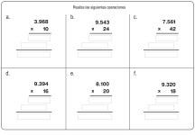 fichas de multiplicación 16