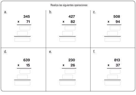 fichas de multiplicación 20