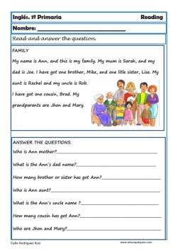 Reading writting ingles primero primaria 07