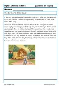 comprensión lectora inlges cuentos 13