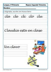 ejercicios lengua primero primaria 15