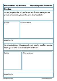ejercicios matemáticas cuarto primaria 11
