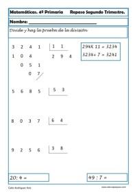 ejercicios matemáticas cuarto primaria 12