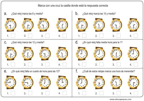 la hora relojes analogicos 11