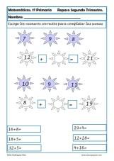 Fichas matemáticas Primero primaria 014
