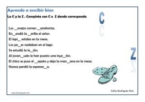ortografía ejercicios