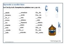 ejercicios para mejorar la ortografia