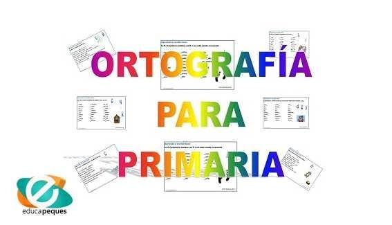 Fichas de ejercicios ortografía para primaria