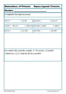 matemáticas sexto primaria 07