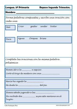 Fichas lengua quinto primaria 17