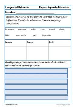 Fichas lengua quinto primaria 18