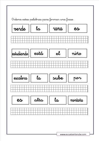 ejercicios de lengua 8
