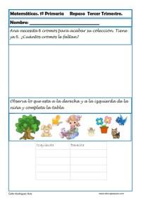matematicas primero primaria 12