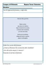 ejercicios lengua sexto primaria 10