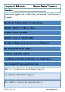 ejercicios lengua sexto primaria 18