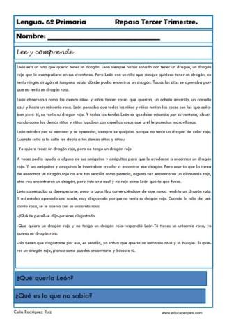 ejercicios lengua sexto primaria 21