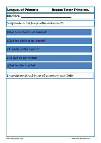 ejercicios lengua sexto primaria 22