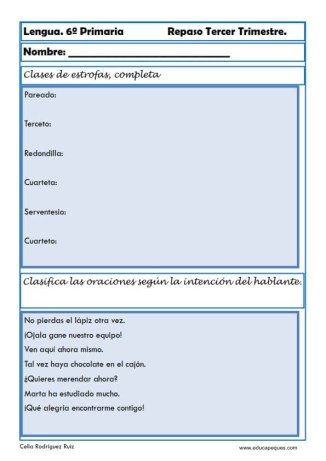 ejercicios lengua sexto primaria 24