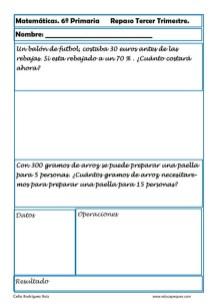 fichas matemáticas sexto primaria 06
