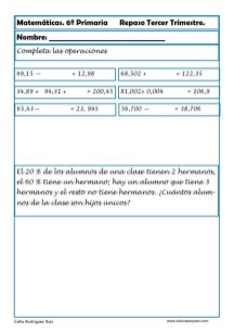 fichas matemáticas sexto primaria 07