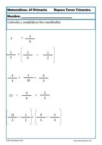 fichas matemáticas sexto primaria 22